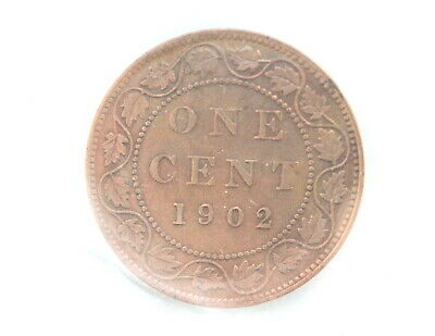 1902 Edward VII 1 Cent CAN • Cleaned • ICCS Grade EF-40