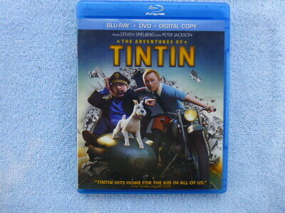 The Adventures of Tintin (Blu-ray/DVD, 2012, 2-Disc Set, NO DIGITAL CODE)  NICE