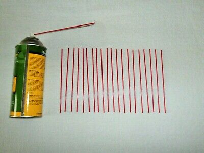 20 Piece Replacement Extension Straws / Tubes Fit Most Aerosol Spray Cans 6 inch