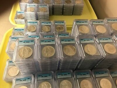 Pre 1921 Silver Morgan Dollar ICG MS65 S$1 Lot of 250 Mixed Dates and Mint Marks