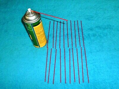 20 Piece Red Extension Straws / Tubes Fit Most Aerosol Spray Cans 6 inch Made US
