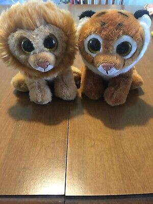 317278fb942 Ty Velvety Tiggs The Tiger And Louie The Lion Plush 6 Inch Pair