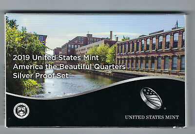 USA: America the Beautiful Quarters Silver Proof Set 2019, Silber