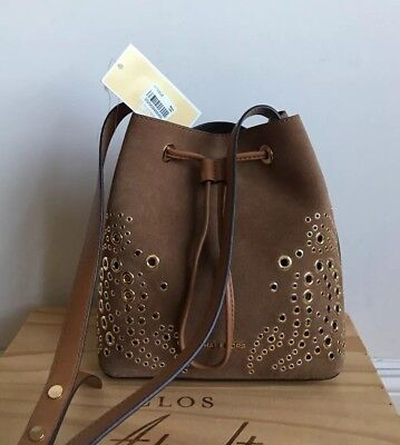 a5712cbbc4 NWT MICHAEL KORS Cary Small Grommeted Suede Bucket Bag Marigold ...