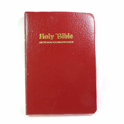 HOLY BIBLE, 1978, hardcover, Crusade Bible KJV Red Letter Dictionary