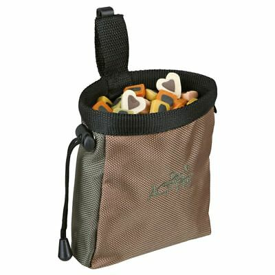 Trixie Dog Activity Treat Baggy Snack Bag With Belt Clip -  Brown 10 X 14 Cm