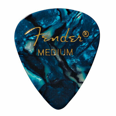 Plektrum Fender 351 Ocean Turq., medium (12 Stk.) Plek Pick NEU