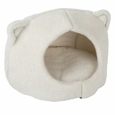 COMFY Kitty Sleeping Cat Den Pet HIDEAWAY Removable Cushion Soft Plush Non-Slip