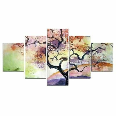5 Pieces  Abstract Flower tree Pictures Home Decor Framework