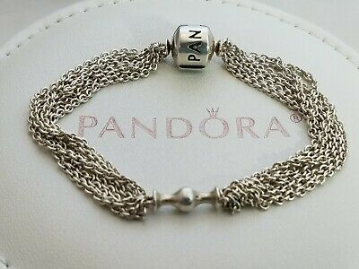 e73497548 Authentic Pandora Sterling Silver Moments One Clip Bracelet 591701 16