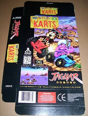 Atari Jaguar 64-Bit Games Console Original Atari Karts Game Box NEW P/N: J9091E