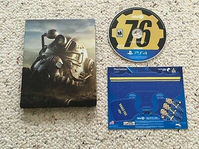 FALLOUT 76 {Steelbook, Disc, Controller Skin} (Sony PlayStation 4 PS4, 2018)