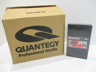VHS Quantegy ColorPlus Broadcast Blank Tapes 20 pack 6 Hrs T-120 E-180 CCTV NEW