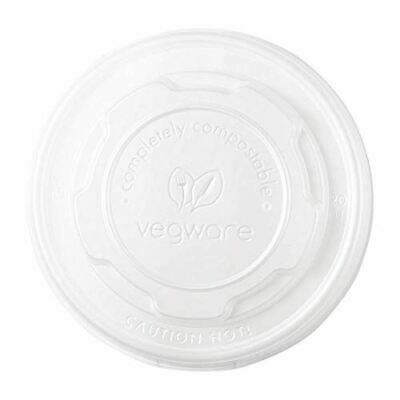 Pack of 1000 Vegware Compostable Flat Lids 90ml Plant Based