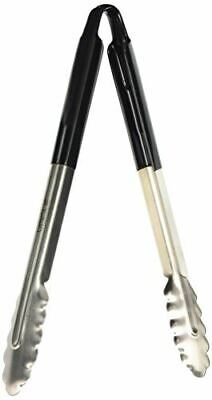 Vogue Serving Tongs in Black for General Usage - Stainless Steel - 290 mm