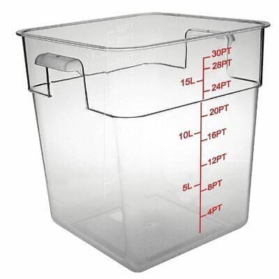 Vogue Storage Container Square in Polycarbonate - Break Resistant - 15 Ltr