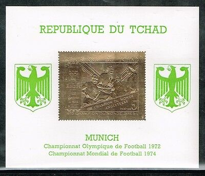 Chad.1970 World Cup.Soccer.Football.Fussball.Gold S/S.MNH**