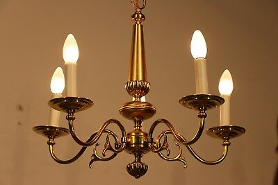 5 arm Vintage antique French style luxury gold plated chandelier French Louis XV