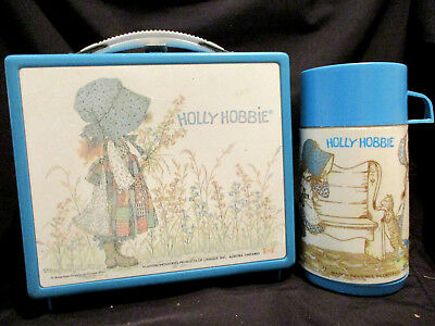 1970s Holly Hobbie Lunch Box & Thermos - Never Used - Delivery Included . .
