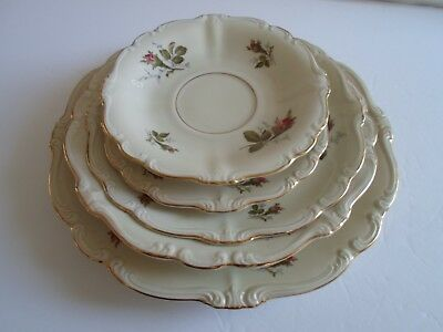 ROSENTHAL  Germany  MOSS ROSE  Pompadour Ivory  (5) Plate pieces Excellent