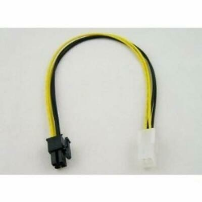 """4-Pin ATX 12V Motherboard Power Male to Female Extension Cable (12"""")"""