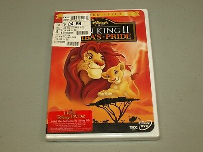 The Lion King II: Simbas Pride (DVD, 1999) Limited Issue   NEW