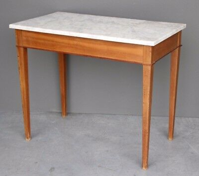 Antique marble top occasional centre table Swedish 1800's console Biedermeier