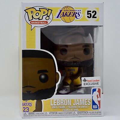 bcc480e4a61 Funko Pop Basketball Lebron James Yellow Jersey Foot Locker Exclusive Lakers   52