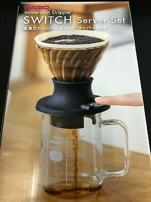 Hario Coffee Immersion Dripper Switch Server Set 1-4 Cups SSD-5012-B from JAPAN