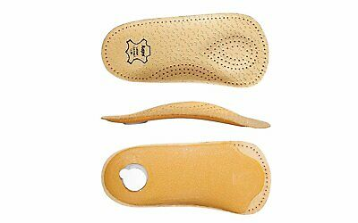 Orthotic 3/4 Leather Shoe Insoles with Longitudinal and Transverse Arch Support