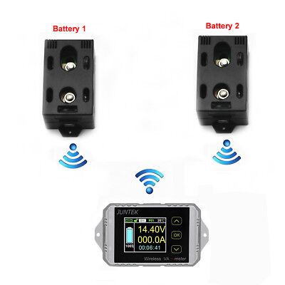Wireless 2 Dual Battery Monitor Main Aux 400V300A SOC Charge Discharge Motorhome
