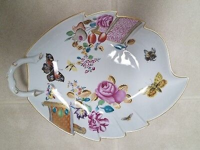 Mottahedeh Lowestoft Rose Butterfly Dish Portugal