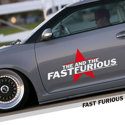 car auto sticker decal The Fast and The Furious Vinly Door Window Reflective New