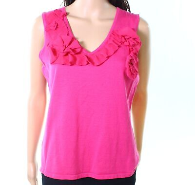 8235225bcda52c Cable   Gauge NEW Pink Womens Size Medium M Floral-Detail Tank Top  48-