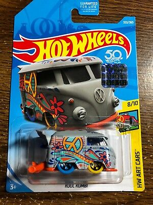 2018 HOT WHEELS Gray Volkswagen Kool Kombi HW Art Cars 8/10 Factory Sealed set