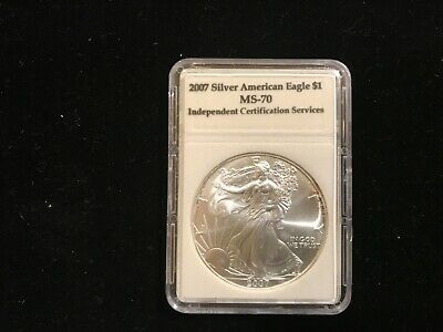 2007 1 oz American Silver Eagle Coin .999 Brilliant Uncirculated in Fancy Holder