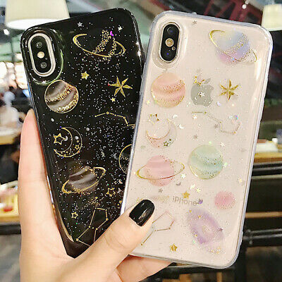 F Iphone 8 Plus 7 Plus XS Max XR Bling Glitter Girls Women Cute Phone Case Cover