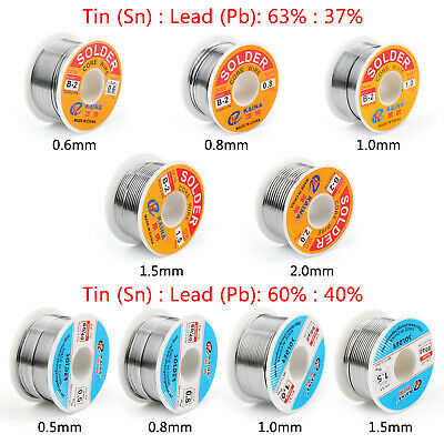 100g 63/37 60/40 Rosin Core Tin Lead Souder Wire Soldering Flux 2.0% AF