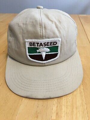 K-Products Vintage BETASEED Farming Agriculture Patch Logo Trucker Hat Cap bd049dd79912