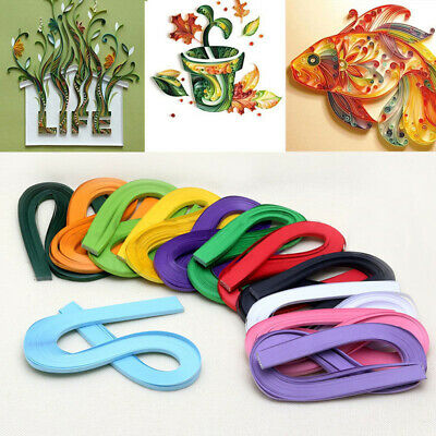 Handmade 120 Stripes 5mm Width Quilling Origami Paper Solid DIY Tool Gift Eager