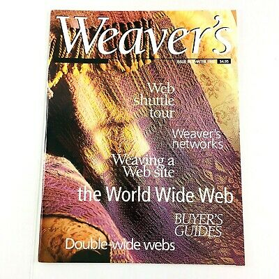 Weaver's Magazine Issue 34 1996: Double-Width Double Wide, Striped Dishtowels