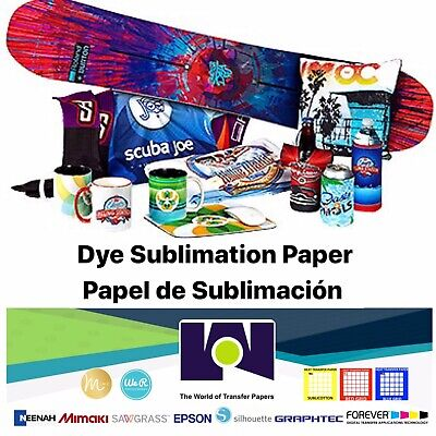 100 Sh 8.5x11 Dye Sublimation Heat Transfer Paper for Polyester T- Shirts, Mugs