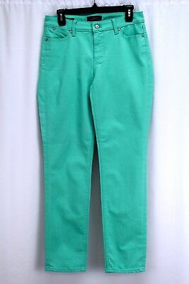 975eac221e4 womens seafoam green TALBOTS jeans flawless five pocket slim ankle stretch  S 4