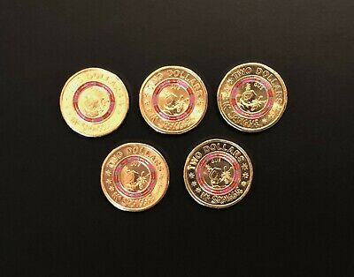 1 x SHINY NEW UNCIRCULATED 2019 $2 coin ** MR SQUIGGLE ** GUS ** from a Mint Bag