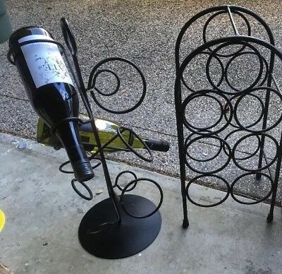 2 X Metal Wine Cabinet Rack Stand Display Storage Table Home Bar