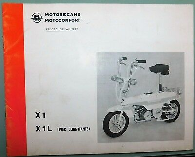 Ancien Catalogue Pieces Detachees 1973 Mobylette Motoconfort Motobecane X1 - X1L