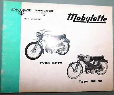 Ancien Catalogue Pieces Detachees 67 Mobylette Motobecane Motoconfort Sptt Sp50