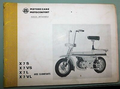 Ancien Catalogue Pieces Detachees 1974 Mobux Motoconfort Motobecane X7S /vs/l/vl