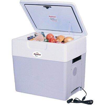Large 52 Qt Electric Cooler & Heater, Thermoelectric Car RV Travel Chest Fridge