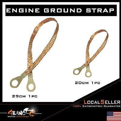 "Bonding Copper Ground Straps 20cm+29cm Multi-Purpose Kit Pair 8/""+11.4/"""